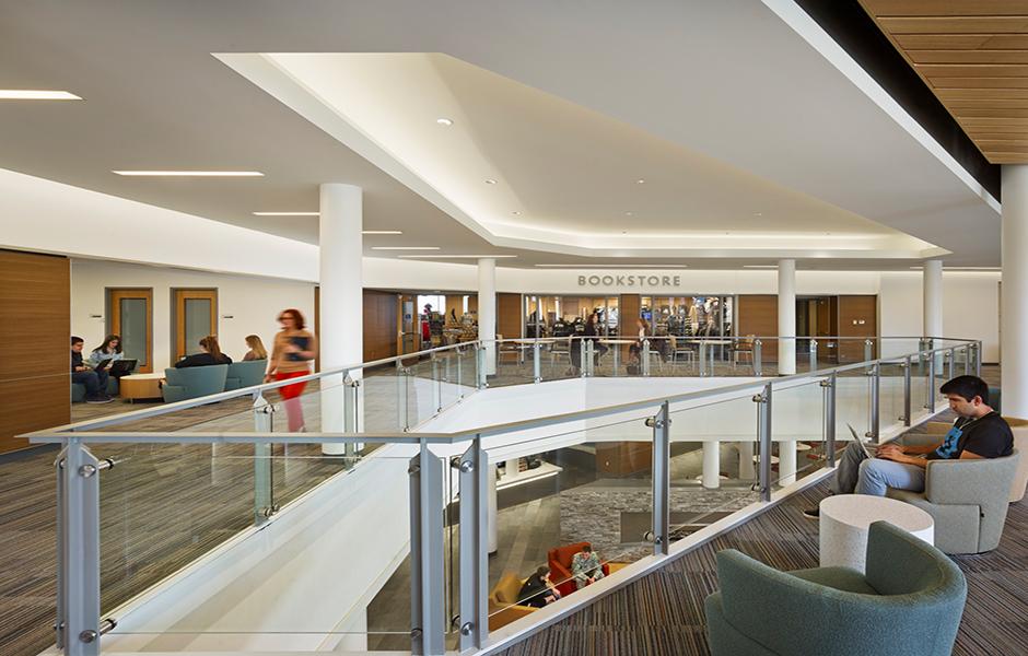 Bryant university student center lighting design usai