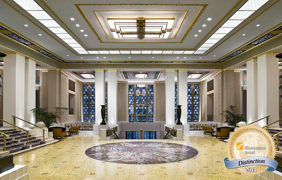 Waldorf Astoria Lighting Designer Cooley Monato Studio Interior Design Champaulimaud Architect BBG BBGM Photographer Michael Weber