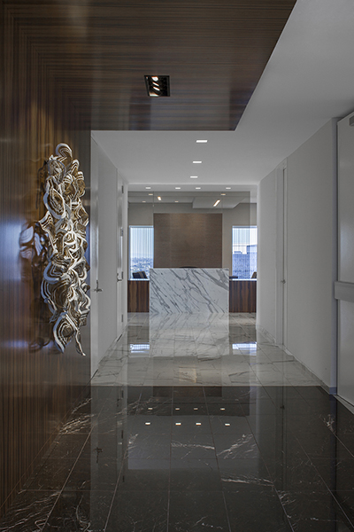 led downlights for a financial services corporate office environment