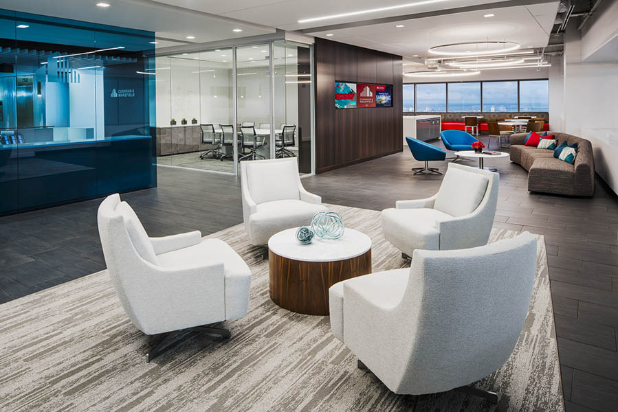 cushman wakefield tampa florida office led downlights