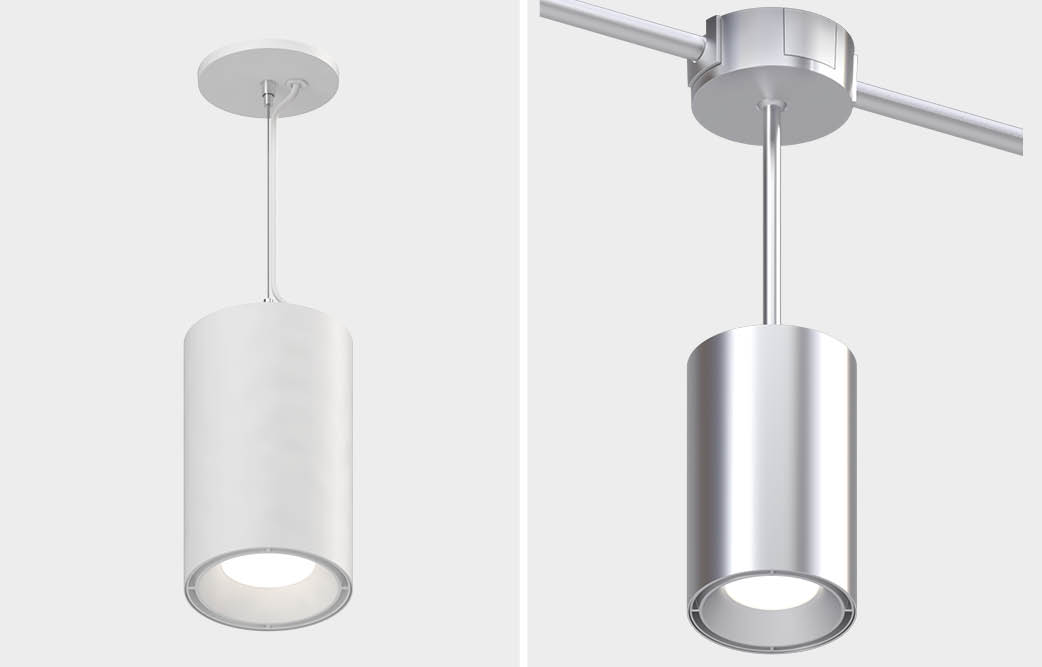 Open Ceiling Lighting Round Square Pendant Fixtures For Exposed Ceilings